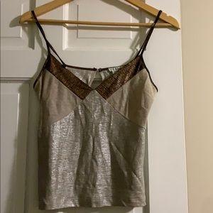 Chloe metallic camisole top